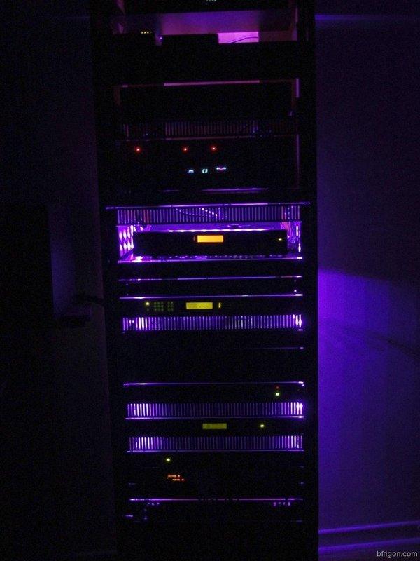 led strip lighting for my a v rack cabinet. Black Bedroom Furniture Sets. Home Design Ideas